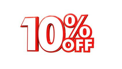 email marketing is an easy way to send a coupon like the one displayed for 10 % off