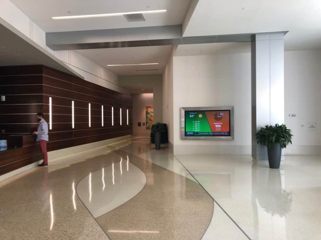 This is inside the virtual office building where P.Y. rents her virtual office space in Raleigh, NC.