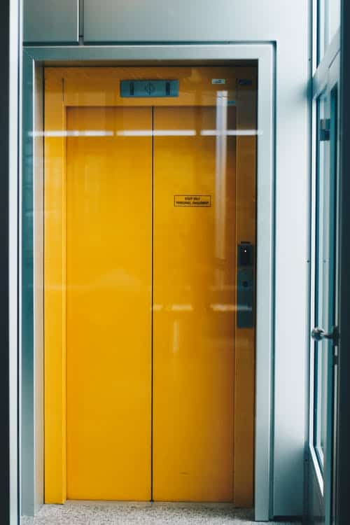 an elevator; to represent an elevator speech or USP