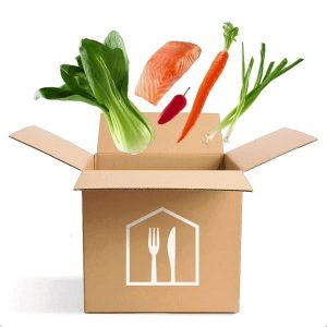 food delivery services; meals in a box