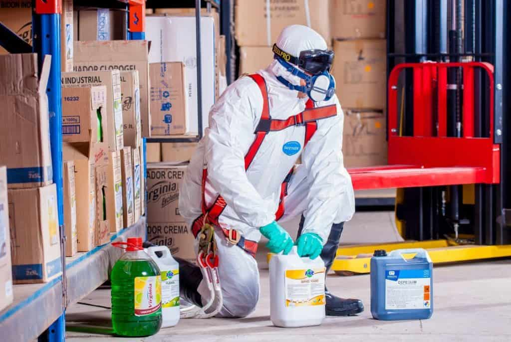 man in hazmat suit, let professionals do what they do.