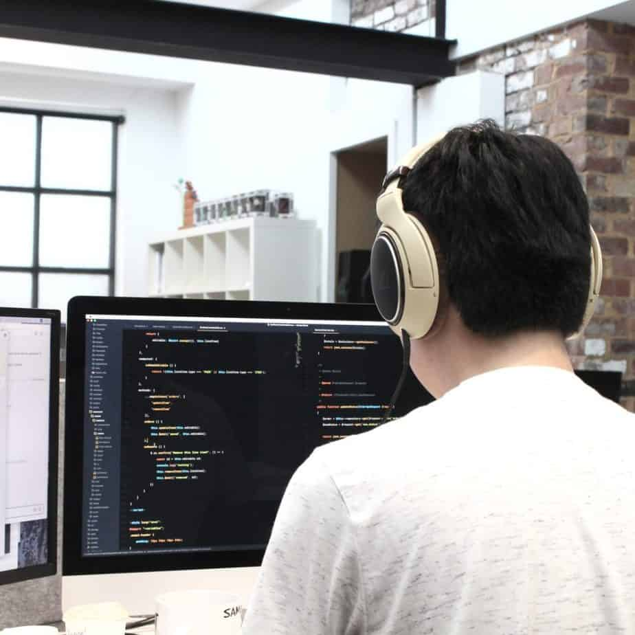 man with headset on... live chat