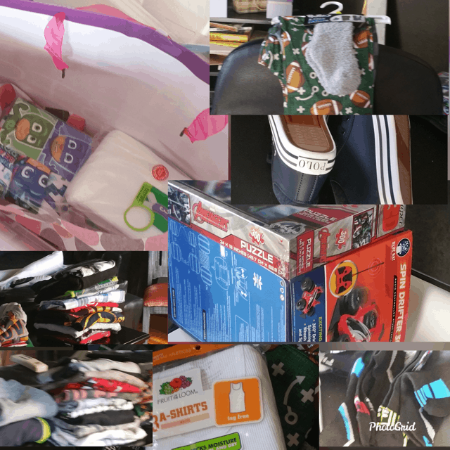 photo of toys and clothes 2018 Christmas Charitable.