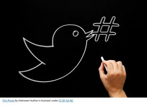 black and white twitter bird-what are hash tags