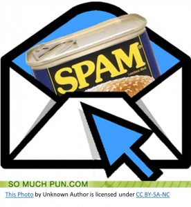 subject line Email example letter with a spam can represent spam mail