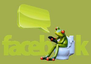 facebook frog-on toilet reading marketing strategies