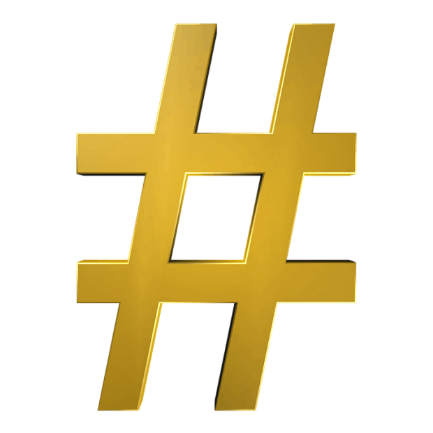 """what are hashtags and how to use them, golden pound """"3"""""""