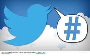 photo of twitter carrying a hashtag -how to use twitter hashtags